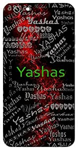 Yashas (Fame) Name & Sign Printed All over customize & Personalized!! Protective back cover for your Smart Phone : Samsung Galaxy E5