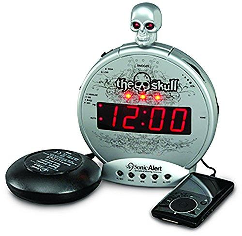 Sonic Alert Loud Alarm Clock SBS550ss The Skull with Vibrating Shaker