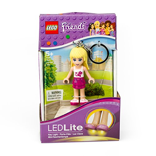 LEGO Friends Stephanie Keychain Light - 2.75 Inch Perfect for Backpacks, Keychains - Moving Parts, Long Lasting LED's - 1