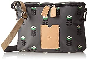Orla Kiely Buttercup Stem Printed Nylon Mini Box Cross Body,Slate,One Size