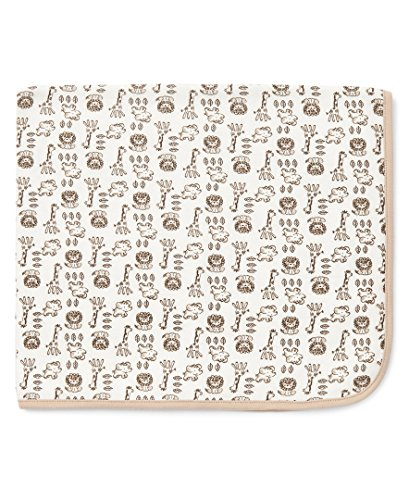 Little Me Baby Boys' Safari Tag Along Blanket, Ivory Multi, One Size