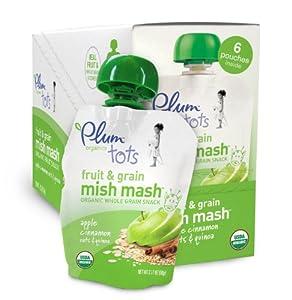 Amazon.com : Plum Organics Mish Mash Apple Cinnamon Oats and Quinoa, 3