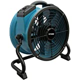 XPOWER X-34TR Variable Speed Sealed Motor Industrial Axial Fan with 3-Hour Timer