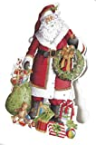 Caspari Advent-Pop Up Santa Claus US, Multi-Color