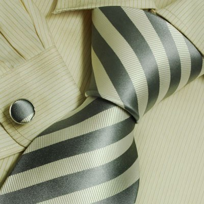 Grey stripes neck ties Off-White polka dots boyfriends presents accessories ties set A2109