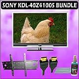 Sony Bravia Z-Series KDL-40Z4100/S 40-Inch 1080p 120Hz LCD HDTV (Silver) + Wall Mount Accessory Kit