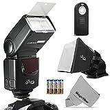 Altura Photo (AP-UNV1) Speedlite Flash Kit for Canon Nikon Sony Panasonic Olympus Fujifilm Pentax Sigma Minolta Leica and any Digital Camera with a Hot Shoe Mount - Includes: Altura Photo Flash + Softbox Flash Diffuser + Universal Remote + MagicFiber Microfiber (Nikon D3200 D3100 D3000 D3300 D5000 D5100 D5200 D5300 D7000 D7100 D200 D300 D600 D610 D700 D750 D800 - Canon T3i T4i T5i SL1 60D 70D 5D 6D 7D)