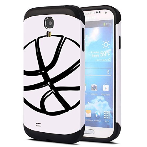 SAMSUNG GALAXY S4 GT -I9500 Basketball Case OxyCase Tufproof Anti-scratch Drop Protection Ultra Thin Tough Armor Slim Fit Dual Layered Heavy Duty Hybrid Hard PC TPU Shell for GALAXY S4 (Samsung Galaxy S4 Drop Protection compare prices)
