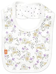 Magnificent Baby Baby-Girls Lion Reversible Bib, Girl Lion, One Size