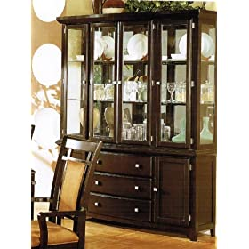 China Cabinet Buffet Hutch with Storage Drawers - Black ...
