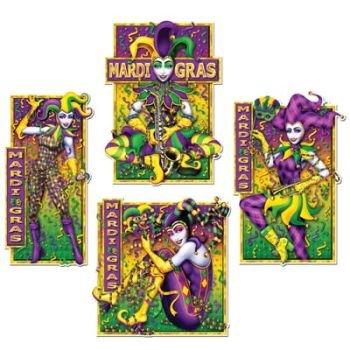 Mardi Gras Masquerade Mime Cutouts 4/Pkg