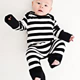 Funky Cool Babygrow Gift Black White Stripe Romper Suit 6 12 Months
