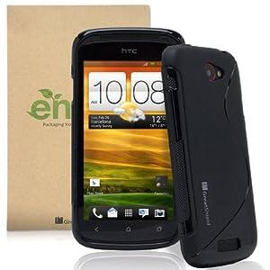 GreatShield Guardian S Series Slim-Fit S Line Design TPU Case for HTC One S - Black