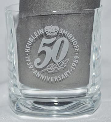 Pair of Smirnoff Vodka 50th Anniversary Glasses10 Ounces