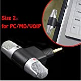 Wensltd Professional Mini Recorder Stereo Voice Digital Mic Microphone Portable For Smartphones PC (PHONE)