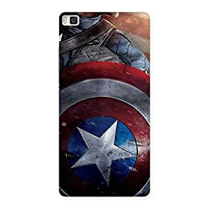Premium Round Multicolor Shi Back Case Cover for Huawei P8