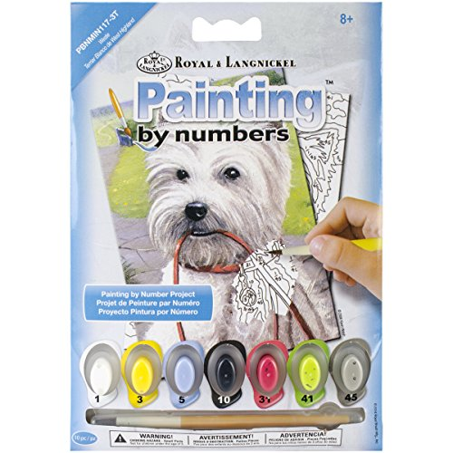 "Royal Brush Westie Mini Paint by Number Kit, 5"" by 7"""