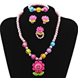 Kids Girls Necklace and Bracelet set Party Favor Jewelry Pendant Necklace