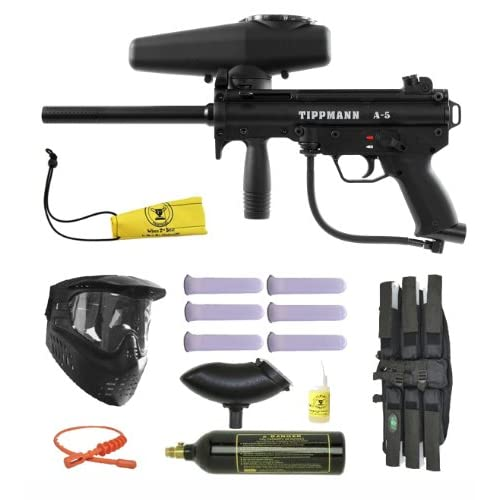 Tippmann A-5 w/ Response Paintball Marker Gun 3Skull BC Mega Set by 3Skull