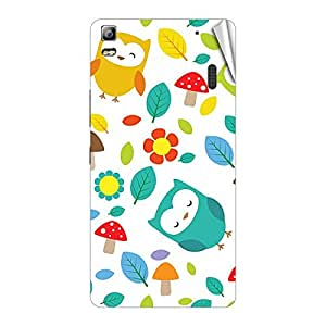 Garmor Designer Mobile Skin Sticker For Lenovo A780 - Mobile Sticker