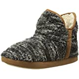 Dearfoams Women's Textured Knit Boot Slipper