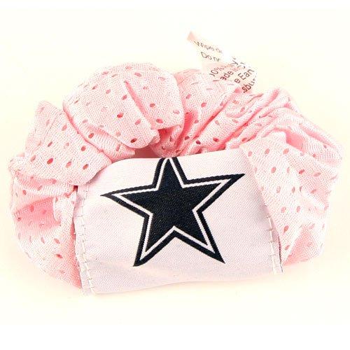 Dallas Cowboys Pink Hair Scrunchie - Hair Twist - Ponytail Holder