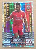 MATCH ATTAX 2014 2015 football card Liverpool RAHEEM STERLING Man of the Match