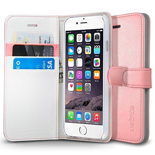 SpigeniPhone6s ケース / iphone6 ケース レザー手帳型ケース ウォレットS (ピンク SGP03381)