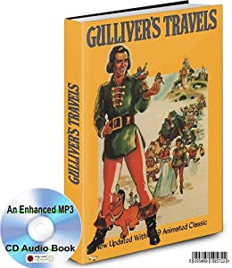 GULLIVER'S TRAVELS BY JONATHAN SWIFT ENHANCED MP3 CD AUDIO BOOK PLUS THE 1939 ANIMATION MOVIE CLASSIC