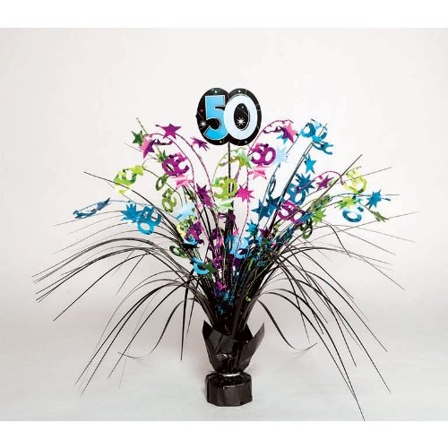 The Party Continuous 50th Birthday Party Spray Table Centerpiece Decoration, Multi , 15