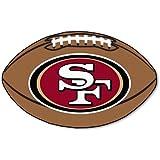 FANMATS NFL San Francisco 49ers Nylon Face Football Rug