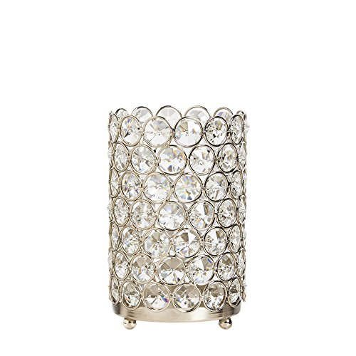 Cypress Home Crystal Chandelier Candle Holder
