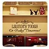 DIY Removable Laundry Room Quote Decal Art Vinyl Wall Sticker Paper Lettering