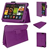 Stuff4 MR-KFHDX7-LMAG-P-STY-SP PU Leather Professional Portfolio Magnetic Case/Stand Cover for 7 inch Kindle Fire HDX 7 - Purple