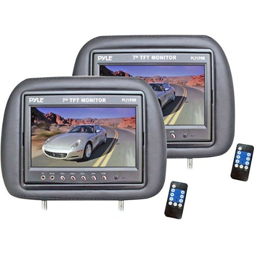 Sound Around Pl71Phb Pyle-View Series Headrest Pair With Built-In 7 Inch Tft-Lcd Monitors Black