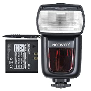 Neewer TT860 *LI-ION BATTERY* Speedlite Flash E TTL Camera Flash for Canon 5D Mark 2 3 6D 7D 70D 60D 50D Digital Rebel T3 SL1 T5i T4i T3i Xti XT / EOS 1100D 100D 700D 650D 600D 400D 350D and other Canon Ditial SLR Cameras -650 Full Power POPS with Single Li-ion Battery! 1.5s Recycle Time