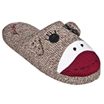 Fuzzy Slipper Gift Shop - Nick & Nora Scuff Slippers- Sock Monkey :  monkey nick scuff slipper