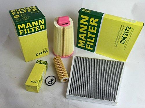 FILTER-SET-MANN-FILTER-LFILTER-LUFTFILTER-AKTIVKOHLEFILTER-W211-E200-KOMPRESSOR