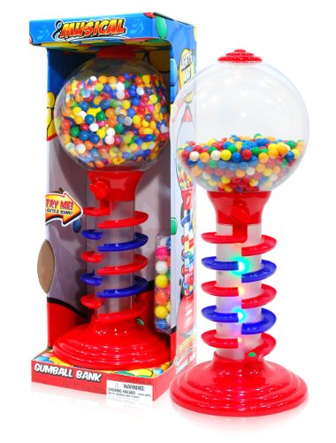 "Sweet N Fun Light and Sound Spiral Gumball Bank with 340G Gumballs, 21"" - 1"