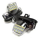 タント タントカスタム L350S L360S LED ライセンスランプ 片側15灯 ホワイト 2個セット