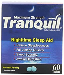 Tranquil Nighttime Sleep Aid Tablets, 60 Count (Pack of 3)