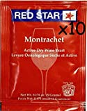 Wine Yeast (10 Packs) Montrachet Red ...