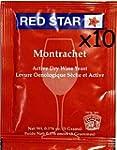 Wine Yeast (10 Packs) Montrachet Red...