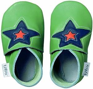 Bobux BB 4147 Green Astro Star - Zapatos, diseño de estrella, color verde en BebeHogar.com
