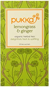 Pukka Herbs Organic Herbal Tea, Lemongrass and Ginger, 20 Count (Pack of 6)