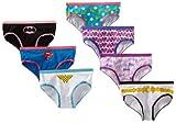 Handcraft Little Girls  Justice League Hipster 7 Pack Underwear