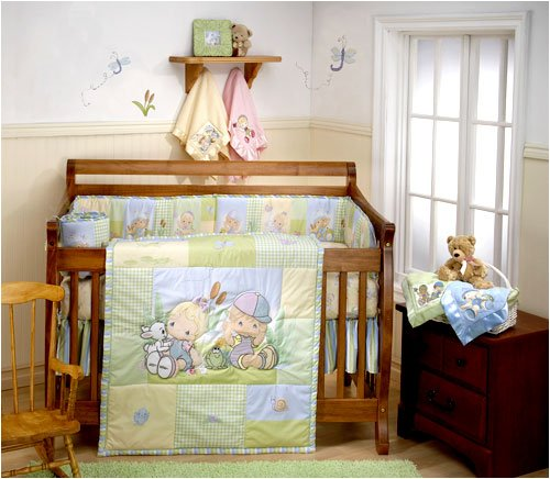 Precious Moments Crib Bedding  Piece Set