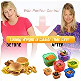 Portion Control Containers: Perfect Portions For Every Meal; Easy Way To Lose Weight; Colour Coded Food Storage Containers Also Great For On-The-Go Travel