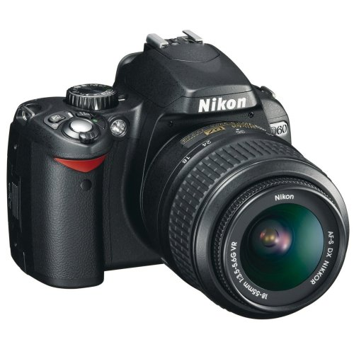 Nikon D60 Digital SLR Camera - Black (AF-S DX Nikkor 18-55 mm f/3.5-5.6G VR)