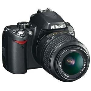 Nikon D60 Appareil photo numérique Reflex 10.2 Kit Objectif AF-S DX VR 18-55 mm Noir